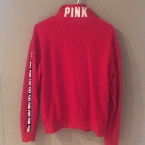 PINK Victoria's Secret Tops - PINK Red Sweatshirt